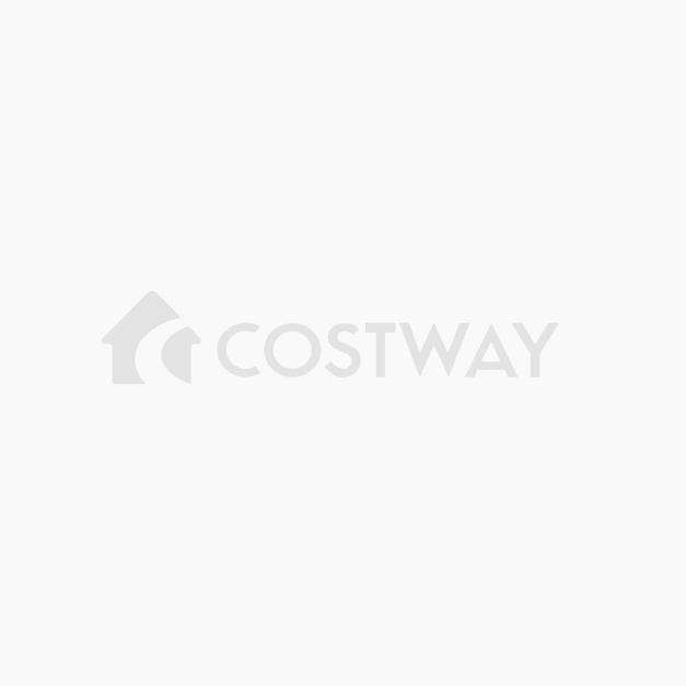 Costway Escritorio Mesa de Estudio de Madera Metal Mesa de Ordenador para Hogar Oficina 107 x 56,5 x 74 cm Marrón oscuro